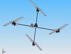 四旋翼飛行機器人的設計與製作